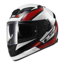 Kask integralny LS2 FF320 Stream Omega Black White Red