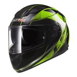 Kask integralny LS2 FF320 Stream Stinger Black Fluo Green