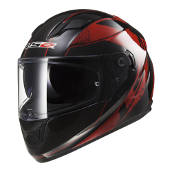 Kask integralny LS2 FF320 Stream Stinger Black Red