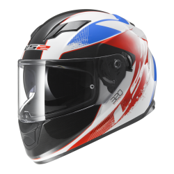 Kask integralny LS2 FF320 Stream Stinger White Blue Red