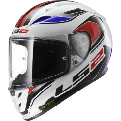 Kask integralny FF323 Arrow R Geo White Blue Red