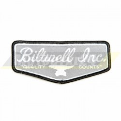 Naszywka SHIELD motocyklowa Custom Biltwell szara
