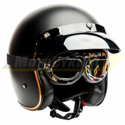 Kask motocyklowy LS2 BOBBER OF583 jak Biltwell czarny mat