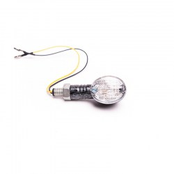 Kierunkowskaz biały owalny carbon diody LED