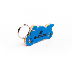 Brelok do kluczy w kształcie motocykla z napisem Suzuki