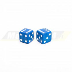 Nakrętki na wentyl niebieskie kości do gry